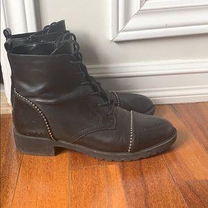 Aldo leather combat boots size US 8